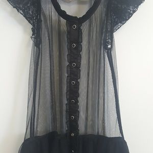 Sheer Lace Forever 21 Top